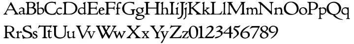 True Golden Font Sample