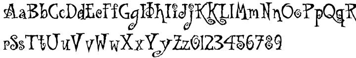 Tuscarora Font Sample