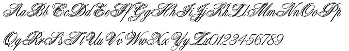 Aristocrat™ Font Sample