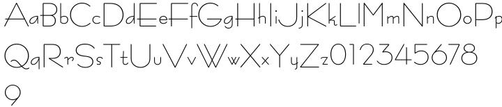 Bernhard Fashion® Font Sample