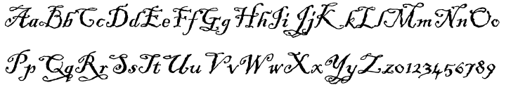 ITC Blackadder™ Font Sample