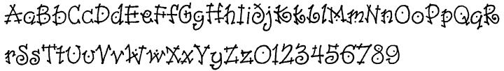 Dancin™ Font Sample