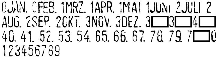 Linotype Tagesstempel™ Font Sample