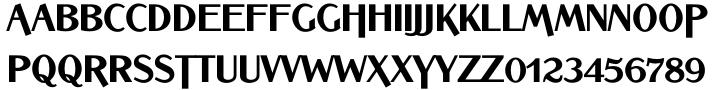 Bannock Brae Gothic™ Font Sample