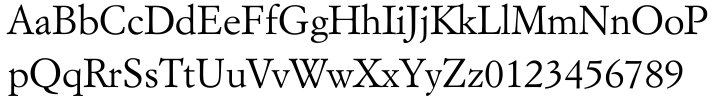 Italian Garamond Font Sample