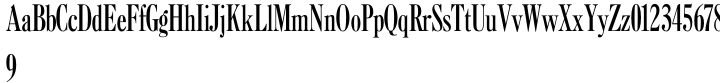 Caslon Extra Condensed Font Sample