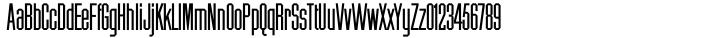 Chamfer Gothic™ Font Sample