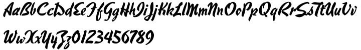 Hauser Script™ Font Sample