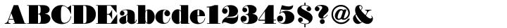 Thorowgood Font Sample