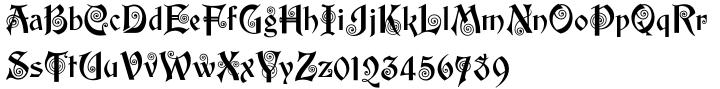 Edison Swirl SG™ Font Sample