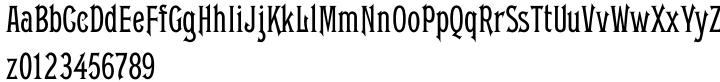 Gable Antique Condensed SG™ Font Sample
