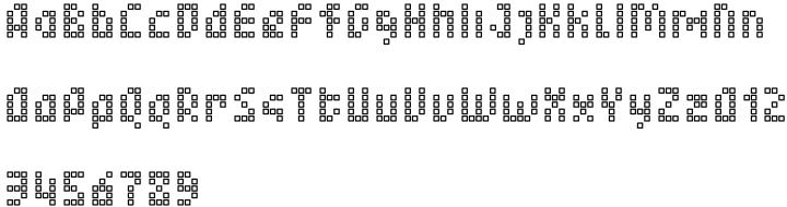 Element 15 Font Sample