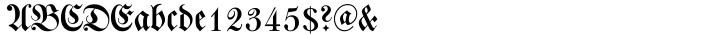 Walbaum Fraktur™ Font Sample