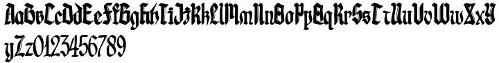 Gotheau Font Sample