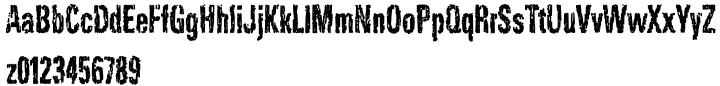 Dark Night AOE Font Sample