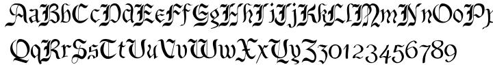 BeneCryptine Font Sample