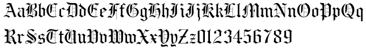 BeneScriptine Font Sample