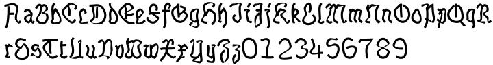 Talloween Font Sample