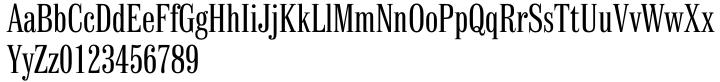 Finalia DT Condensed Font Sample