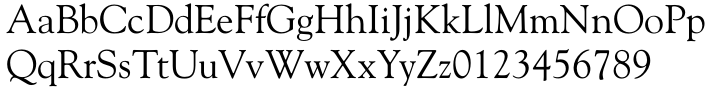 Goudy Old Style DT Font Sample