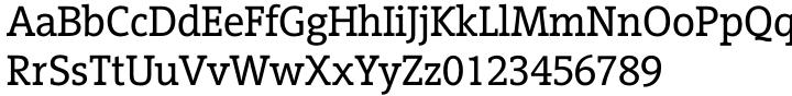 Vigor DT Font Sample