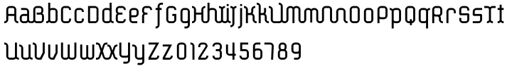 Ether Connected Font Sample
