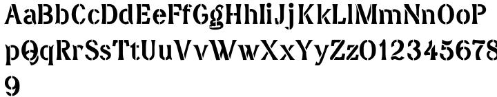 DavidFarewell Stencil™ Font Sample
