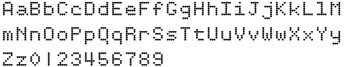 HeartMatrixed™ Font Sample