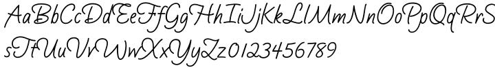 Silver Script™ Font Sample