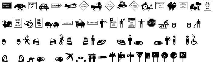 TX Signal Signifier Font Sample