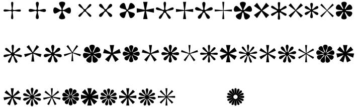 Asterisp™ Font Sample