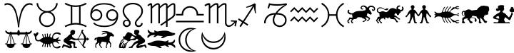 Linotype Astrology Pi® Font Sample