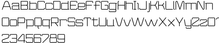 Wired Font Sample