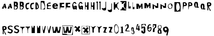 Moore 003 Font Sample