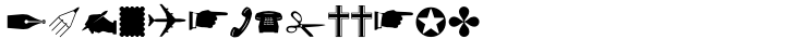 Altemus Dingbats Font Sample
