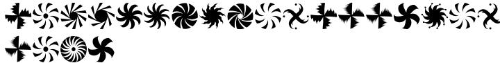 Altemus Pinwheels Font Sample