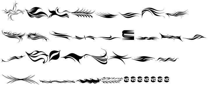 Arabescos ND™ Font Sample