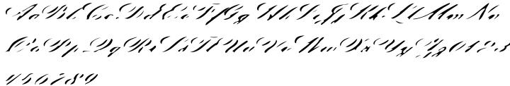 Indelible Victorian Font Sample