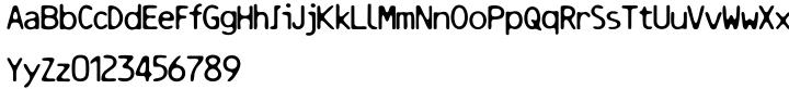 Resbaloso Font Sample