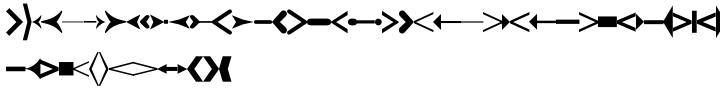 Linotype Creative Arrows™ Font Sample