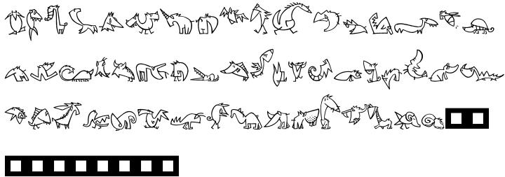 Linotype Creatures™ Font Sample
