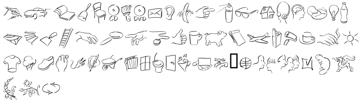 EF Autograph Sketch Font Sample