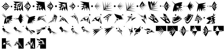 EF Flying OpArt Font Sample