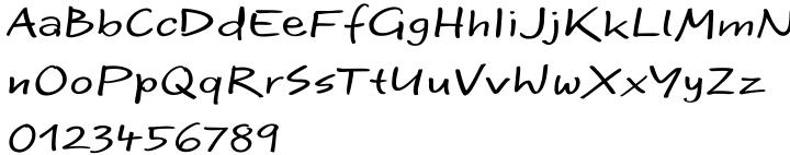 EF Optiscript Font Sample