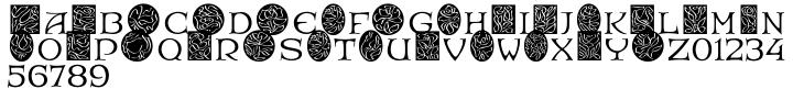 EF RoseDeco Font Sample