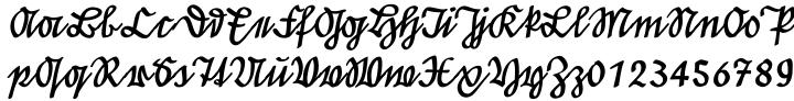 EF Suetterlin Font Sample