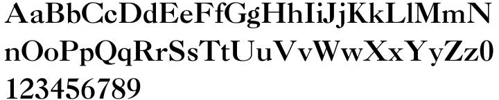 Caslon 3 Font Sample