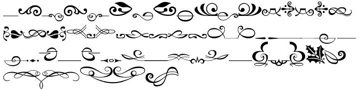 Linotype Decoration Pi Font Sample