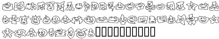 Buddy Parts Font Sample