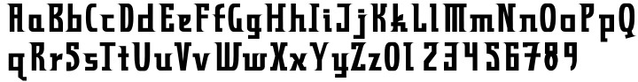 Zyncho Font Sample